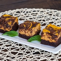 Chocolate Pumpkin Cheesecake Brownies