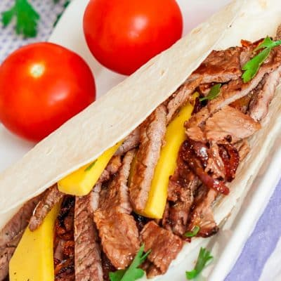 Steak and Mango Fajitas