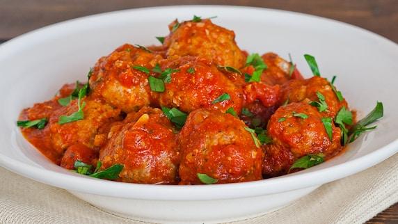 Italian Meatballs with Marinara Sauce