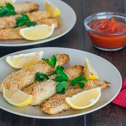 Lemony Tilapia Fish Sticks