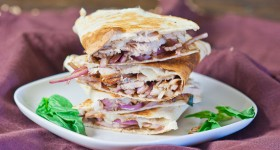 Pork and Balsamic Onion Quesadilla-1-2