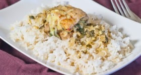 Spinach and Swiss Cheese Stuffed Chicken Thighs-1-7