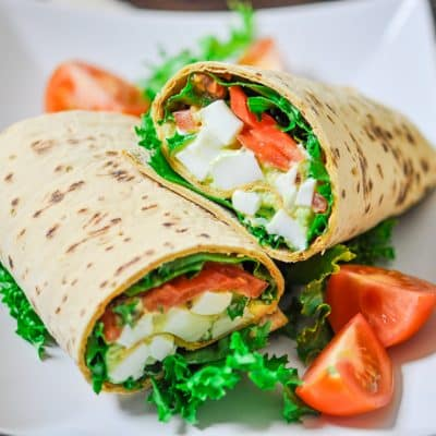 Avocado Egg Salad Wraps