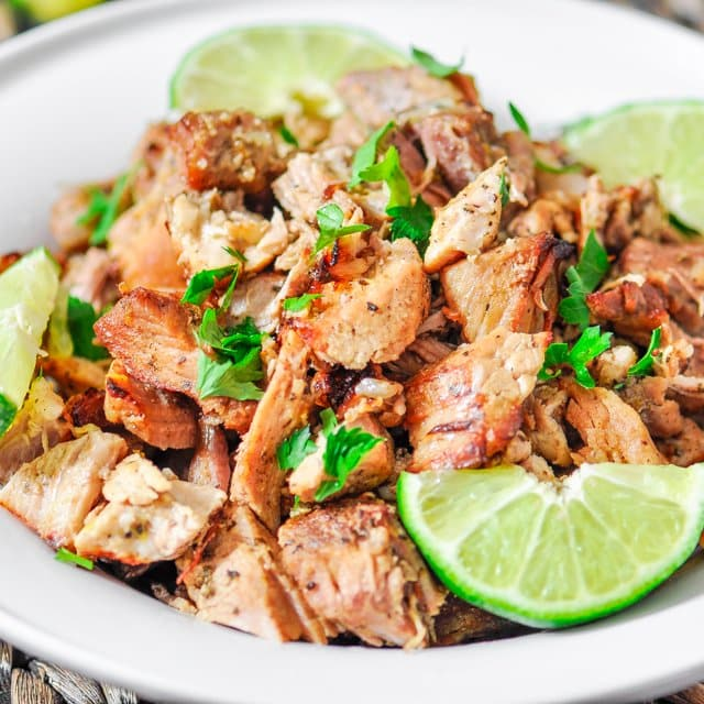 Pork Carnitas – this is the meat you want for your tacos, burritos, sandwiches, you name it. It's to die for!