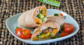 turkey, hummus and veggie wrap-1-2