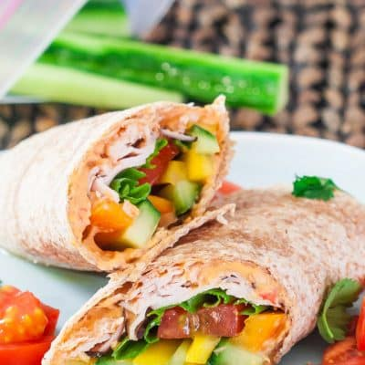 Turkey, Hummus and Veggie Wraps