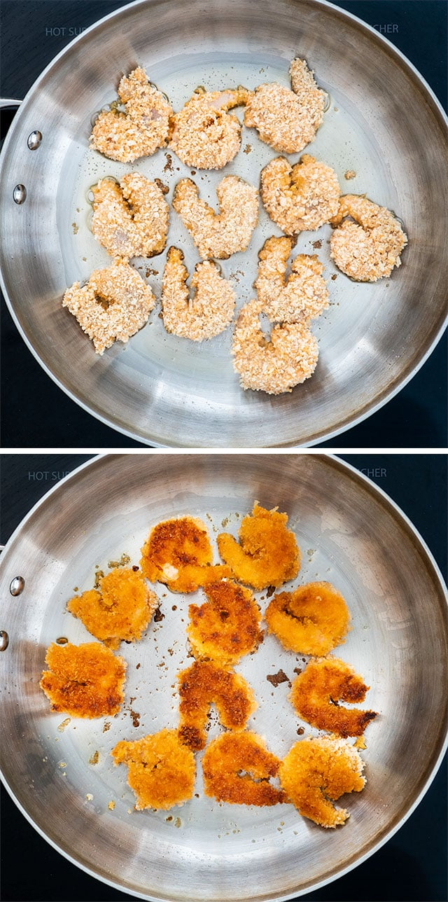 Bang Bang Shrimp process shots