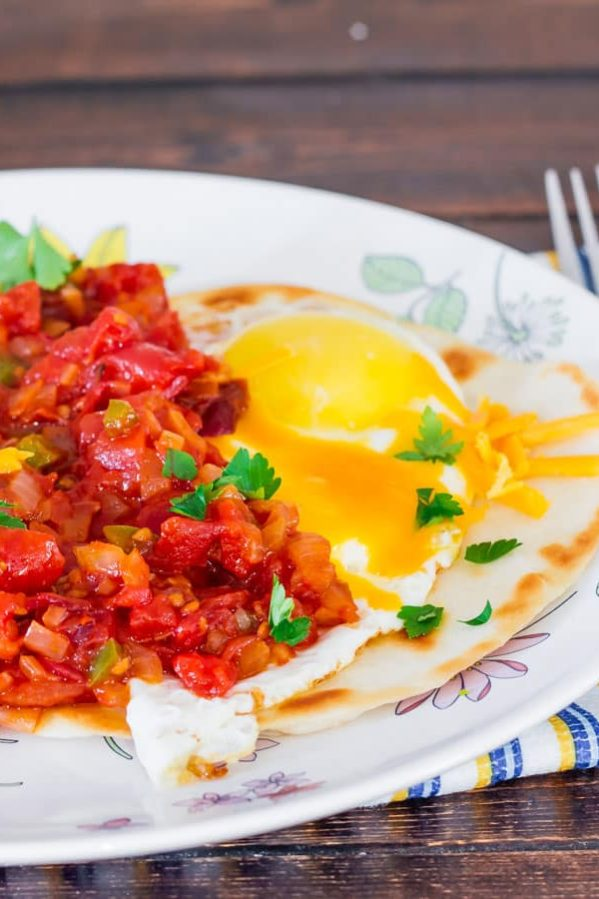 a plate of huevos rancheros