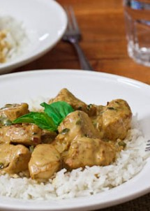 basil chicken in coconut curry sauce-1-2