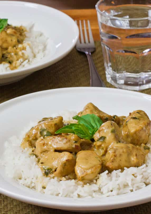 basil chicken in coconut curry sauce-1-4