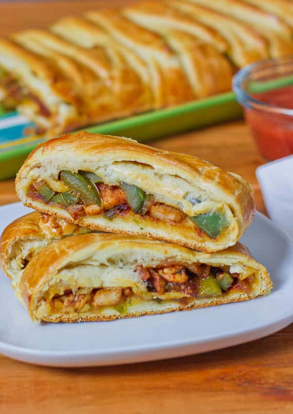chicken fajitas braid