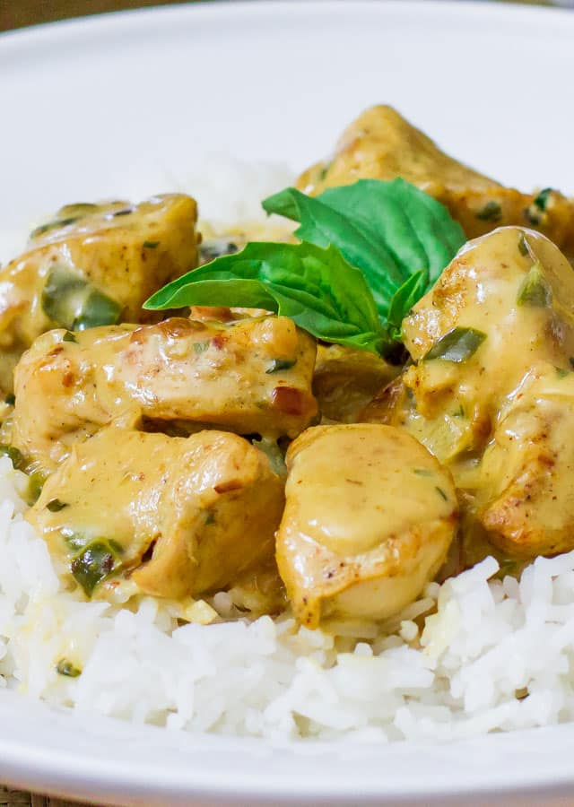 Curry Chicken in Basil Coconut Sauce – delicious curry chicken in a ...