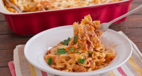 cheesy chicken pasta bake-1