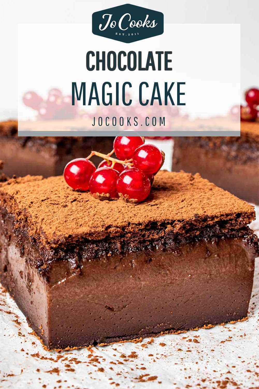 pin for chocolate magic cake.
