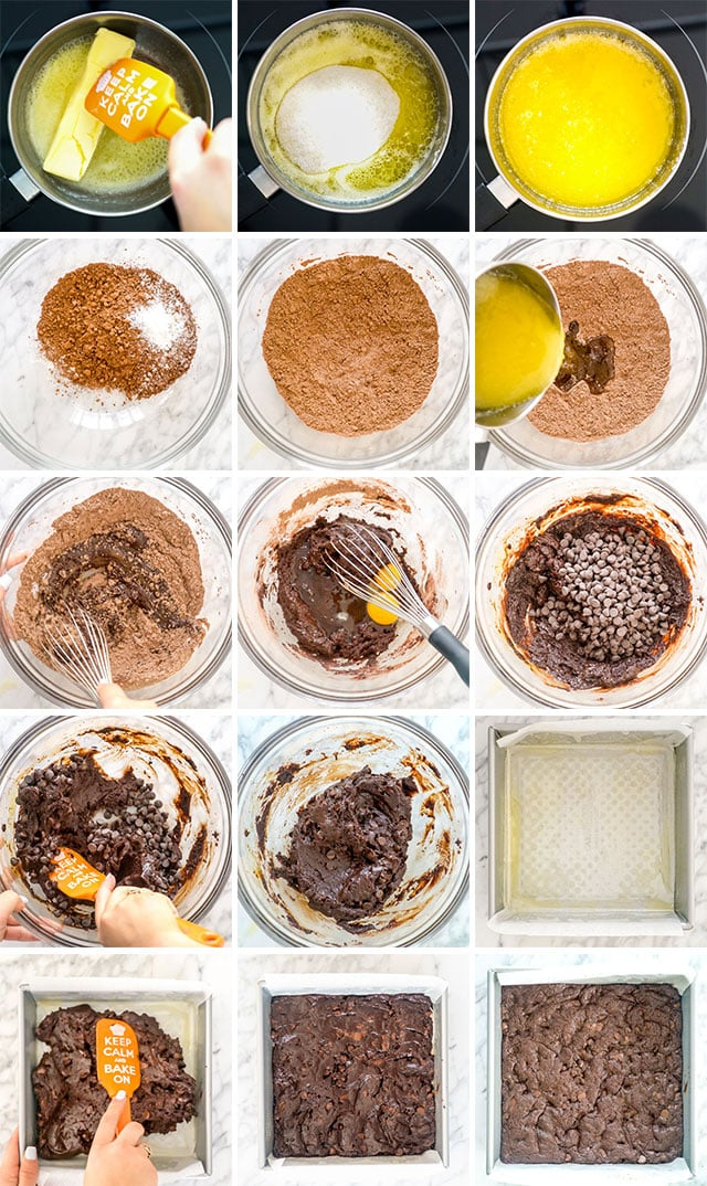 process shots for making brownies