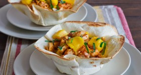 chicken and mango tortilla bowls-1-3