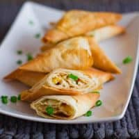 chicken triangles on a plate
