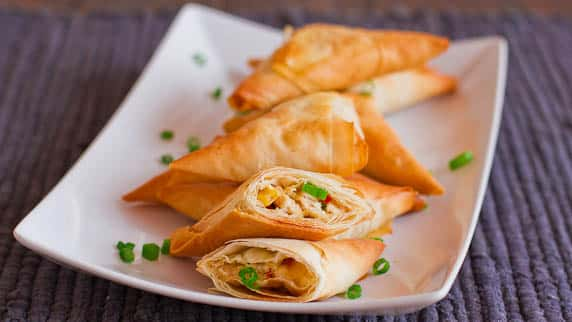 Chicken Phyllo Triangles