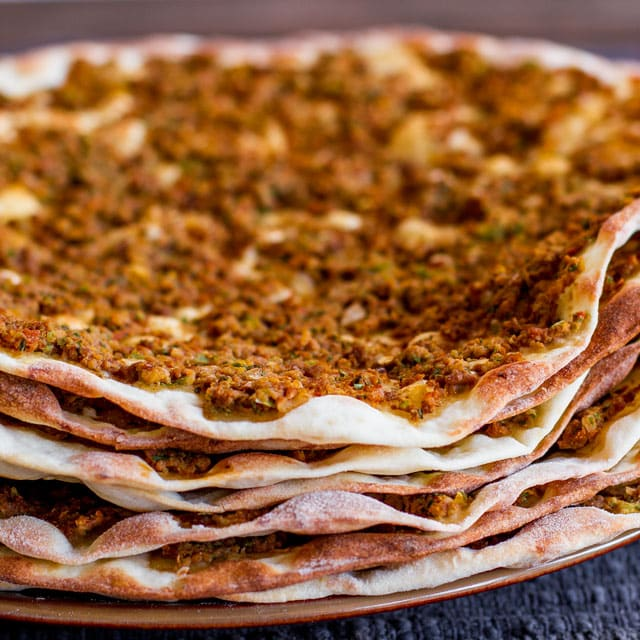 Lahmacun or Turkish Meat Pies – much better than pizza, and a lot healthier.