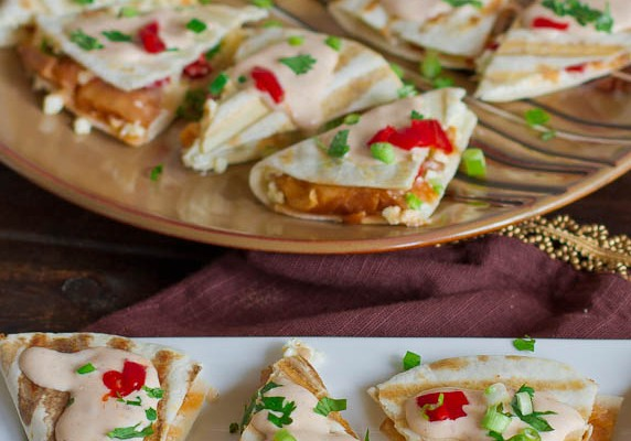 smoked salmon quesadillas with creamy chipotle sauce-1-2