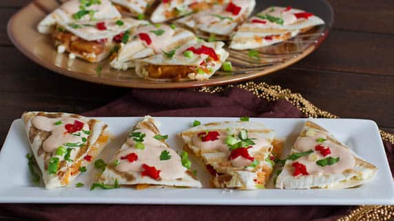 smoked salmon quesadillas with creamy chipotle sauce-1-3