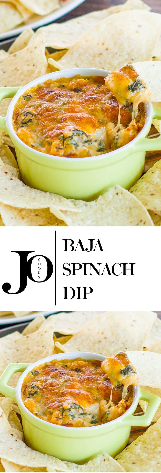 Baja Spinach Dip – even if you are no fan of spinach, you will want to indulge in this delicious dip. It's cheesy, it's spicy, it's phenomenal!