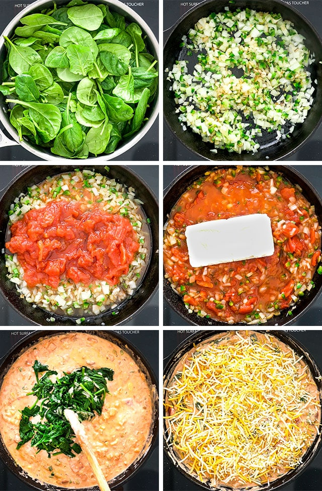 Steps to make Baja Spinach Dip