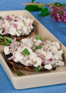 stuffed portobello mushrooms with feta cheese-1-3