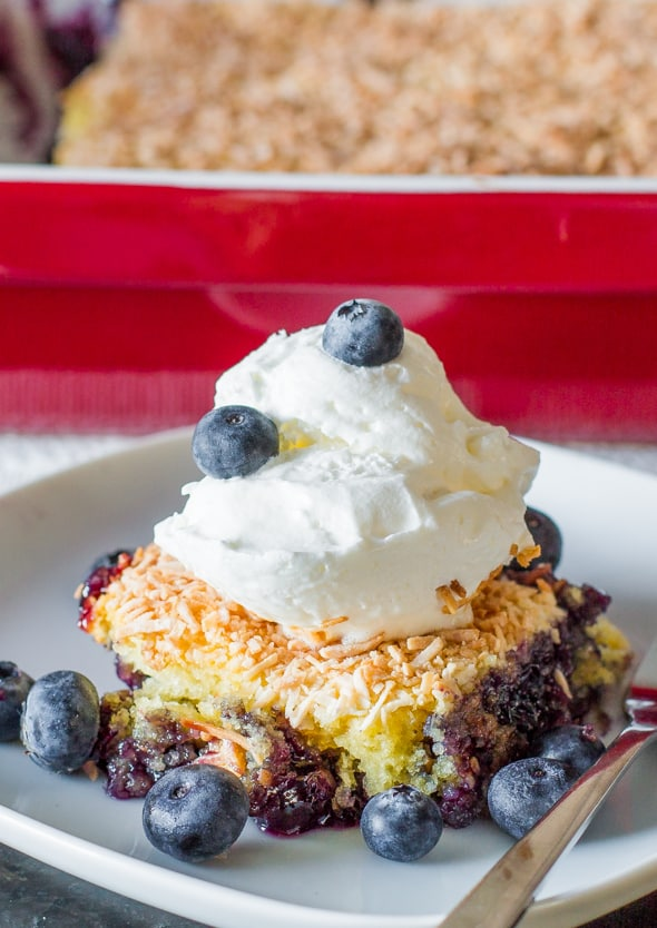 Cake Mix Blueberry Dump Cake