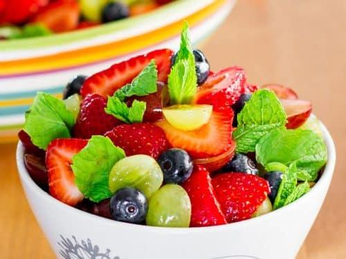 Summer Fruit Salad With Lemon Dressing Jo Cooks