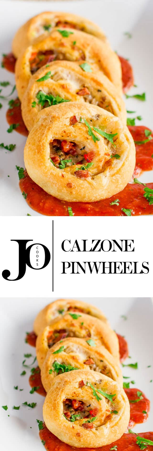 Calzone Pinwheels – pretty bites that are easy, cheesy and adorable. Perfect little appetizers full of flavor, they're cheesy and delicious.