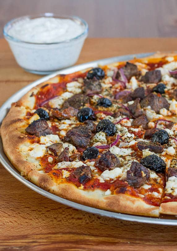 Lamb Souvlaki Pizza