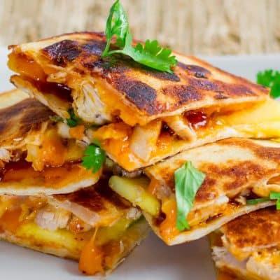 BBQ Chicken and Mango Quesadillas