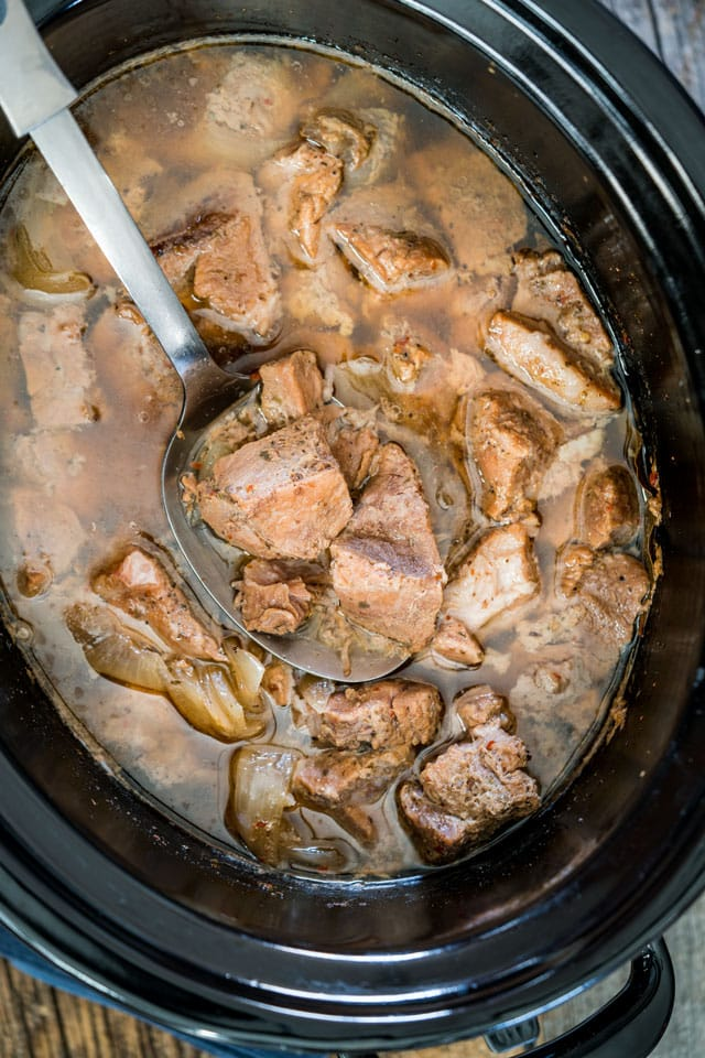 pork carnitas in a crockpot