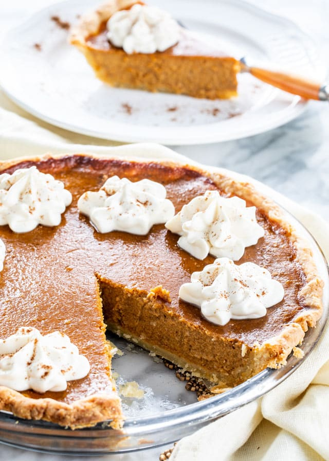 Classic Pumpkin Pie in a pie plate