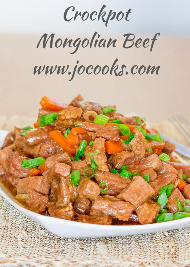 Crockpot Mongolian Beef in a bowl