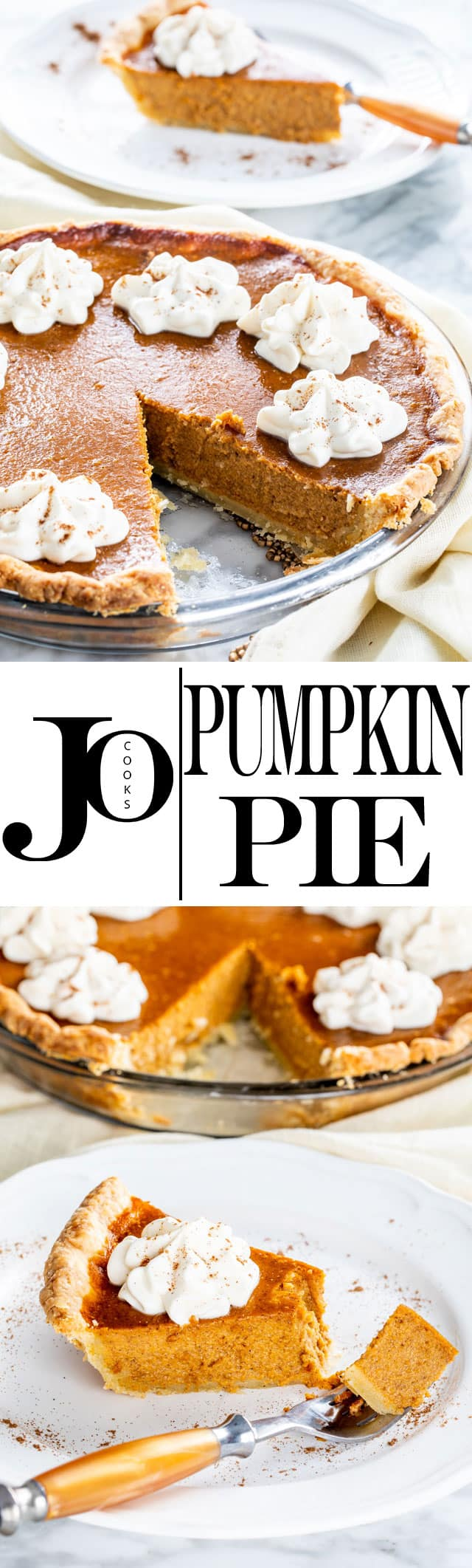 This Classic Pumpkin Pie is creamy, sweet and luscious! Completely homemade from the crust to the creamy filling. It's utterly delicious and begging to be the star of your Thanksgiving menu! #pumpkinpie