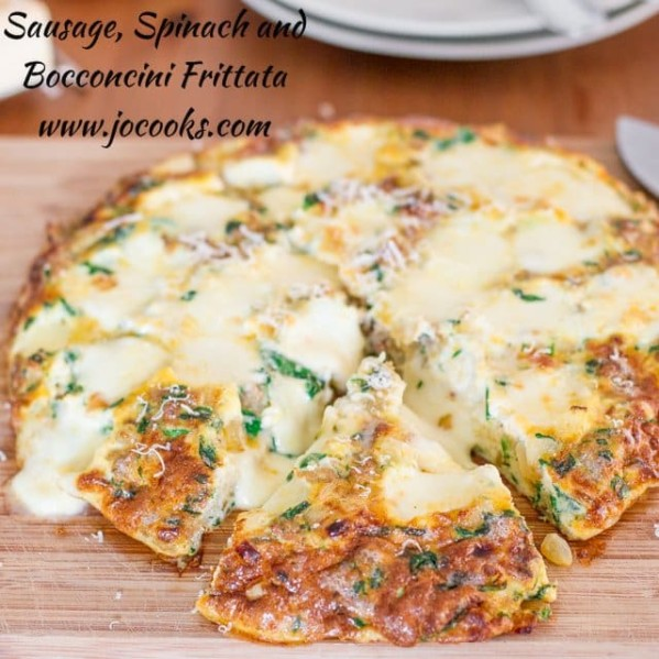 sausage spinach and bocconcini frittata