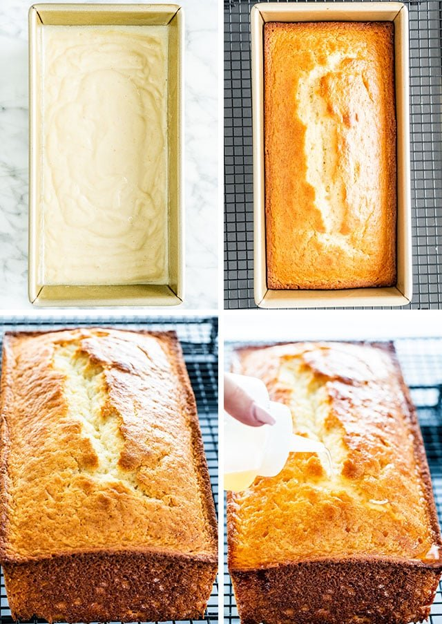 Lemon Yogurt Cake process shots
