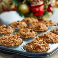 freshly baked whole grain apple nut muffins
