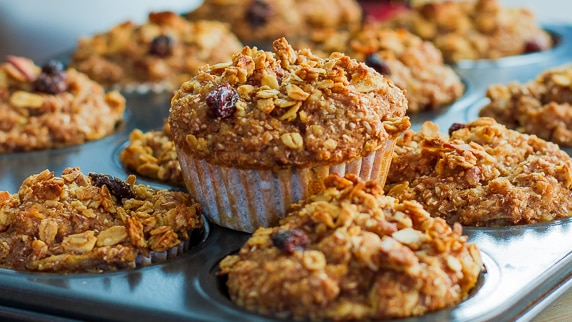 Whole Grain Apple Nut Muffins - Jo Cooks