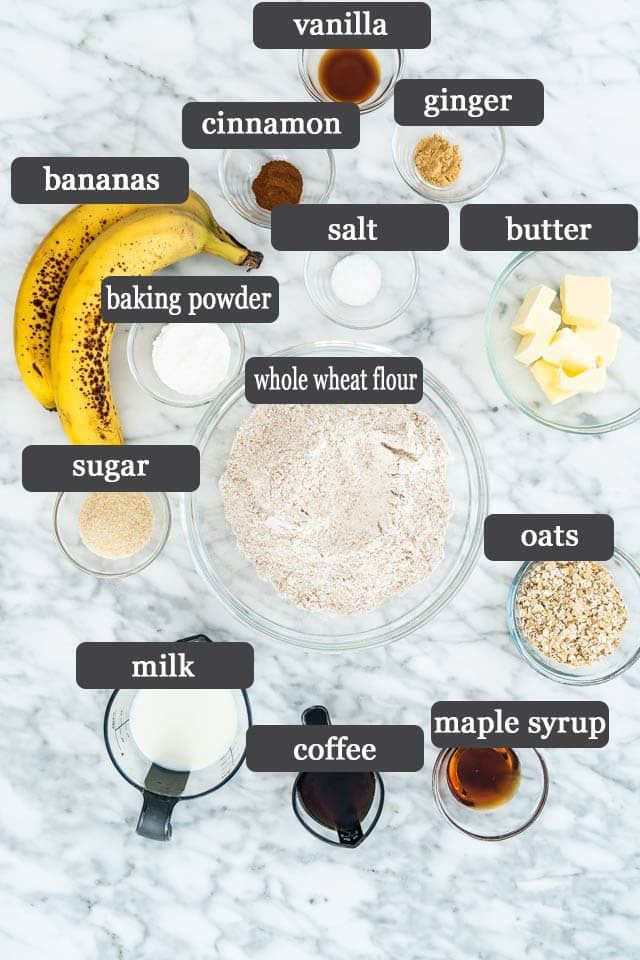 Banana Buzz Scones ingredients
