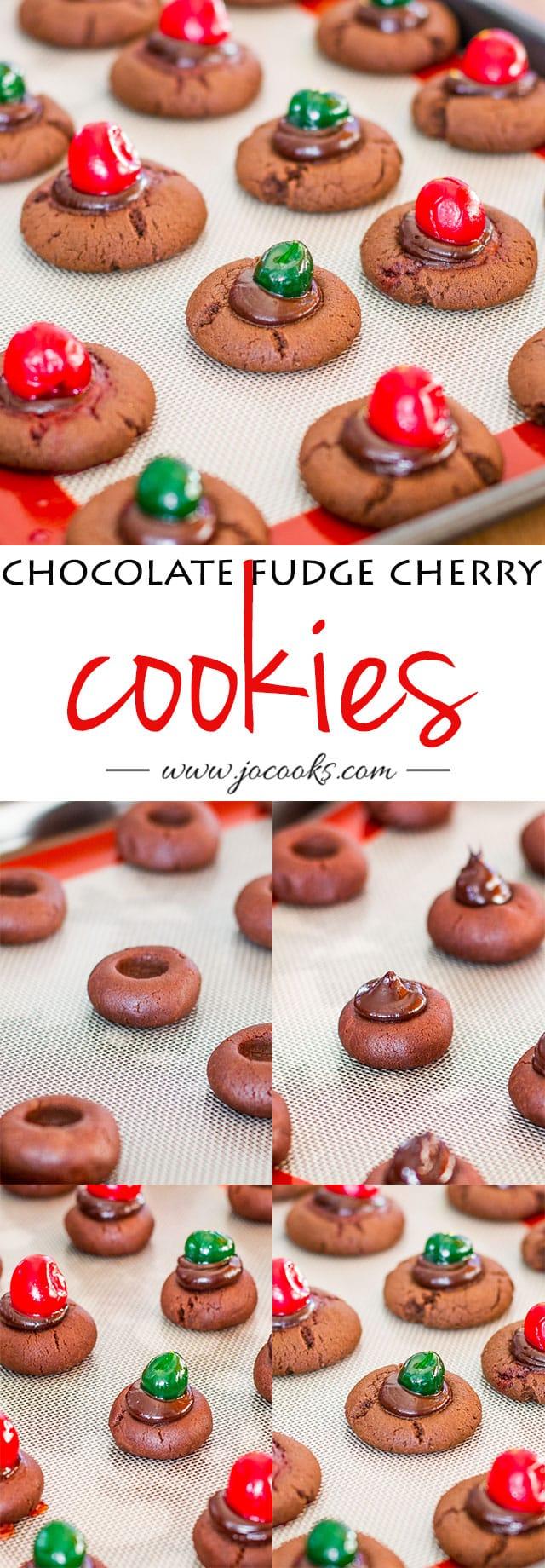 chocolate-fudge-cherry-cookies-collage