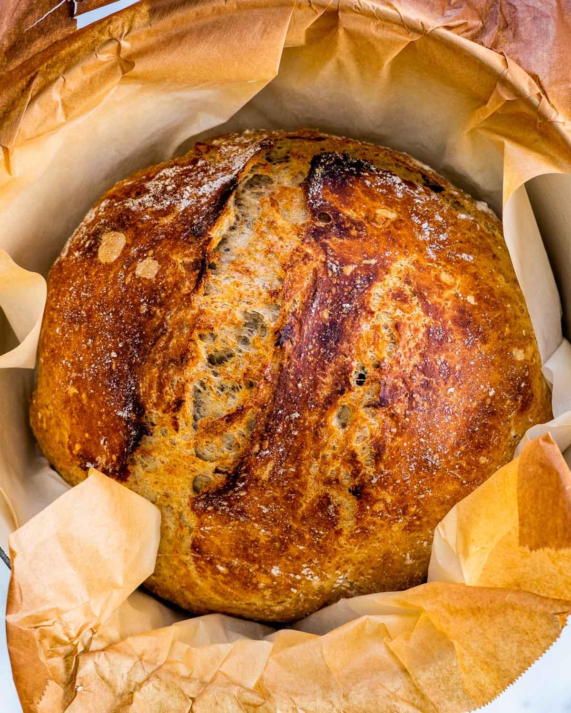 No Knead Whole Wheat Bread Jo Cooks