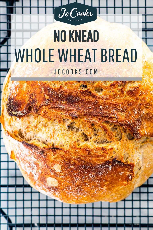 pin for no knead whole wheat bread.