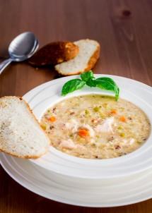 Crockpot Wild Rice, Quinoa and Chicken Soup