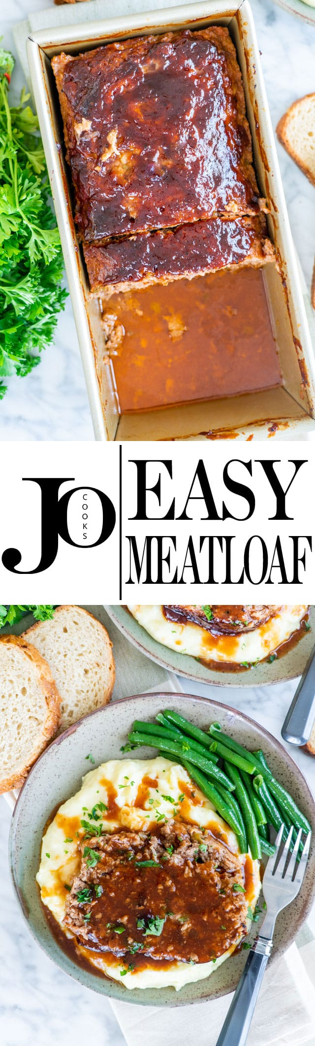 This Easy Meatloaf is a favorite at my house. It's the recipe we always use when we want meatloaf. It's perfect with a side of mashed potatoes. #meatloaf