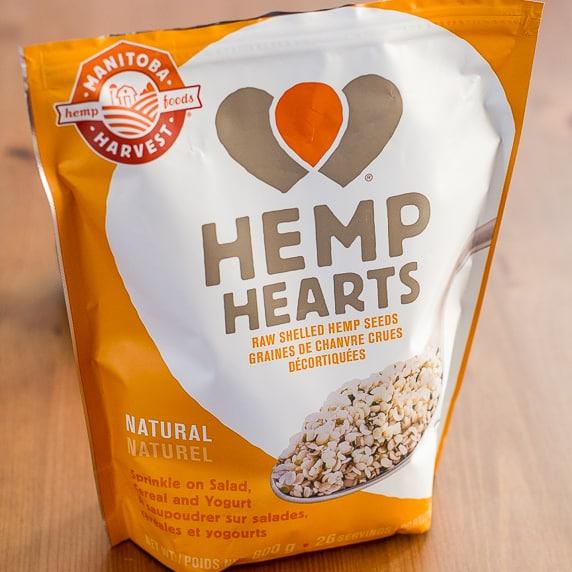 A bag of hemp hearts