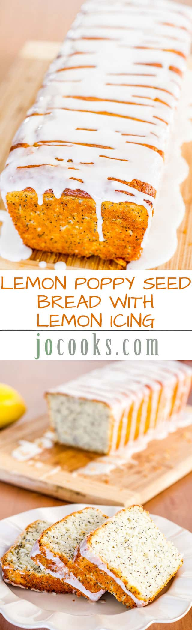 This delicious lemon poppy seed bread with lemon icing is so moist and simple to make, it simply takes you minutes to put together and in the oven it goes.