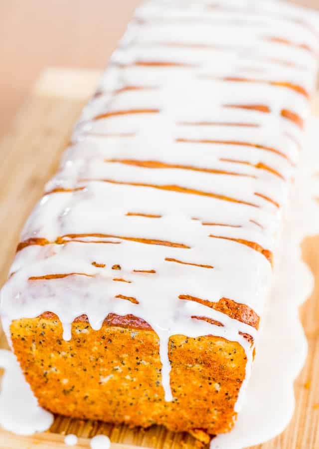 Lemon Poppy Seed Bread with Lemon Icing